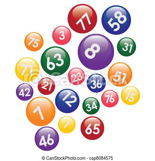 Lottery balls with numbers. - csp8084575