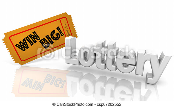 Lottery Lotto Win Big Contest Ticket 3d Illustration