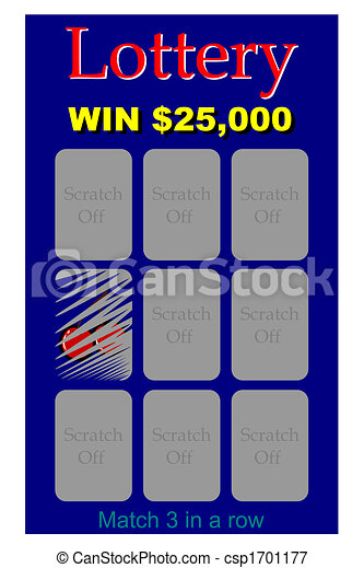 Stock illustrations of lottery ticket a scratch off lottery lottery ticket csp1701177 sciox Images