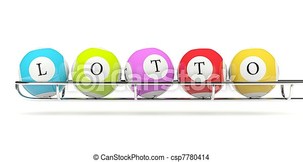 Lotto balls isolated on white - csp7780414