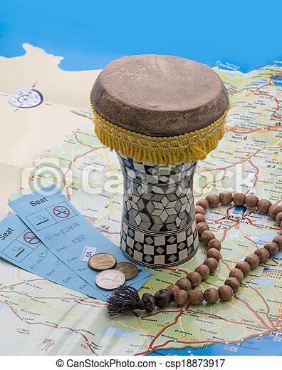 lottsedlar, trumma, mynter, map., radband, arab - csp18873917