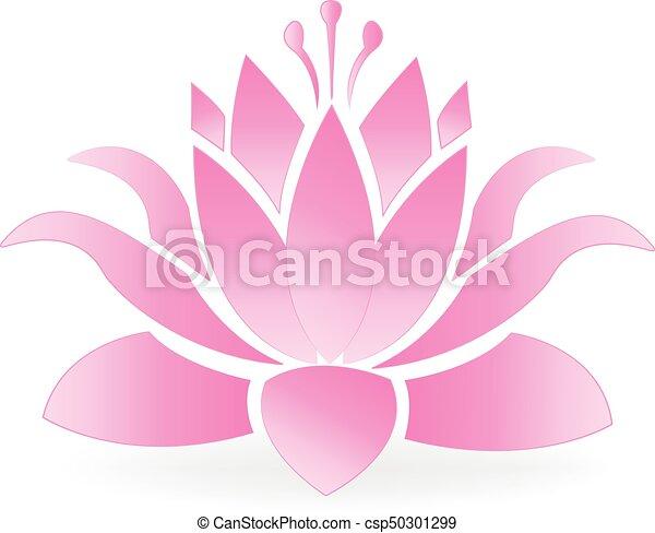 lotus blossom flower logo vector image template