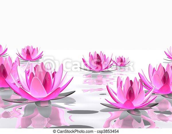 Extrem Dessin de lotus fleur - rendu, lotus, illustration, eau, élégant  QT07