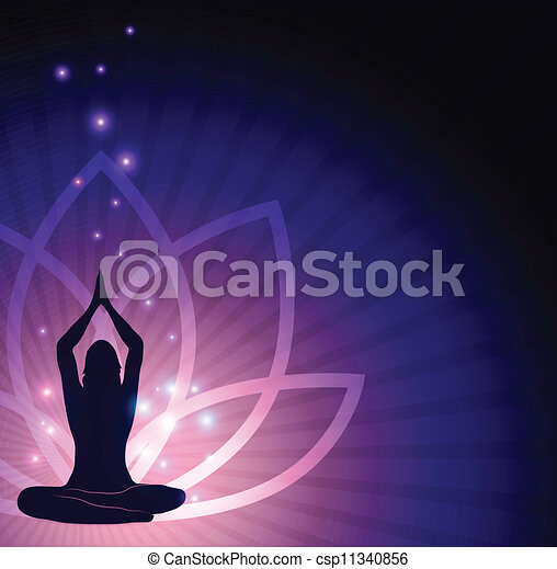 Lotus Flower And Yoga Beautiful Lotus Flower And Woman In Yoga Pose