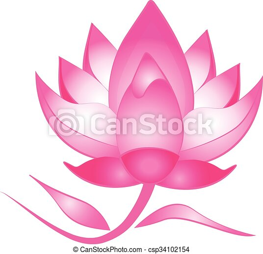 pink lotus flower logo vector clipart vector search illustration rh canstockphoto com lotus flower vector art lotus flower vector free