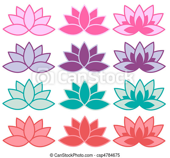 Lotus flower lotus symbols in different colour combinations lotus flower csp4784675 mightylinksfo