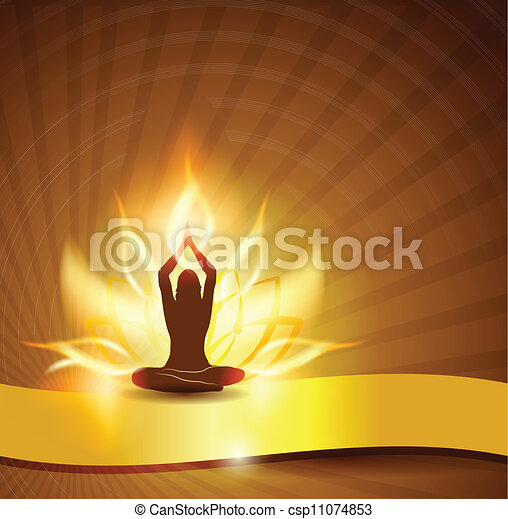 lotus flower -fire and yoga - csp11074853