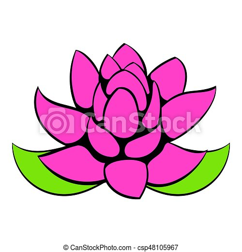 lotus flower icon cartoon lotus flower icon in cartoon stock rh canstockphoto com lotus flower graphic design lotus flower vector graphic