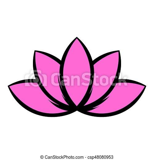 Lotus Flower Icon Icon Cartoon