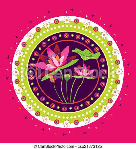 Lotus Flower Icon - csp21373125