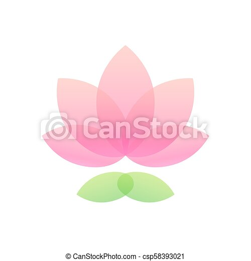 Lotus flower icon simple and elegant lotus icon abstract waterlily lotus flower icon csp58393021 mightylinksfo