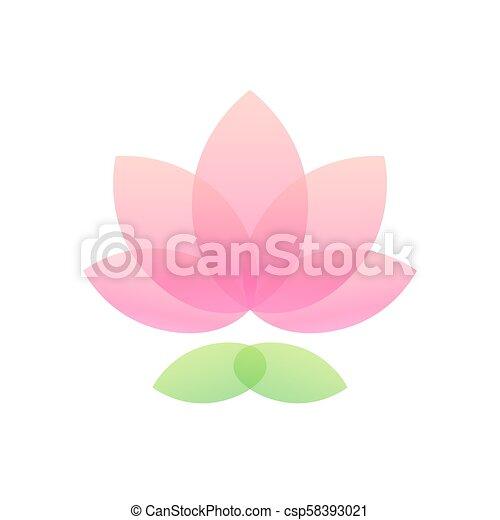 Lotus flower icon simple and elegant lotus icon abstract waterlily lotus flower icon csp58393021 mightylinksfo