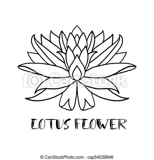 lotus flower icon on white background yoga symbol vector