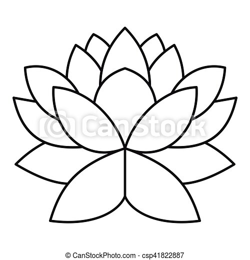 Lotus flower icon outline style lotus flower icon outline lotus flower icon outline style csp41822887 mightylinksfo