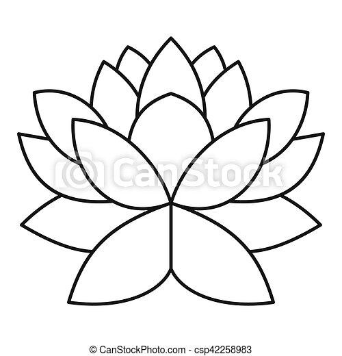Lotus flower icon outline style lotus flower icon outline lotus flower icon outline style csp42258983 mightylinksfo