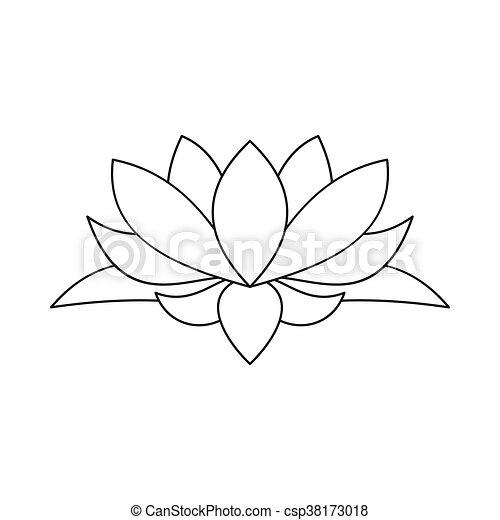 Lotus flower icon outline style lotus flower icon in vector lotus flower icon outline style csp38173018 mightylinksfo