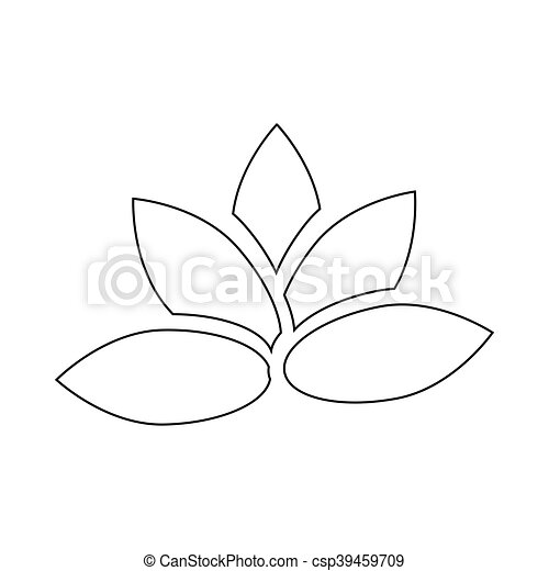Lotus flower icon outline style lotus flower icon in outline style lotus flower icon outline style csp39459709 mightylinksfo