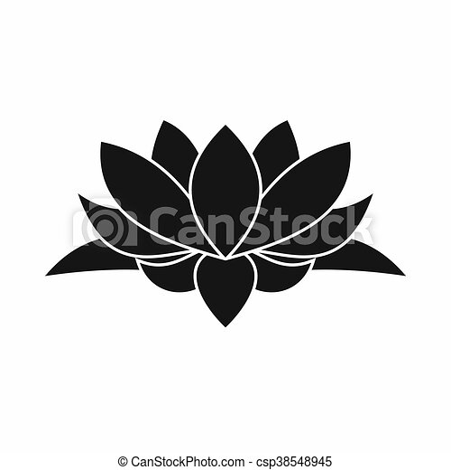 Lotus Flower Icon Simple Style