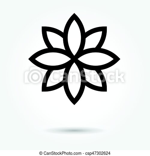 Lotus flower icon vector on white background lotus flower icon vector on white background mightylinksfo