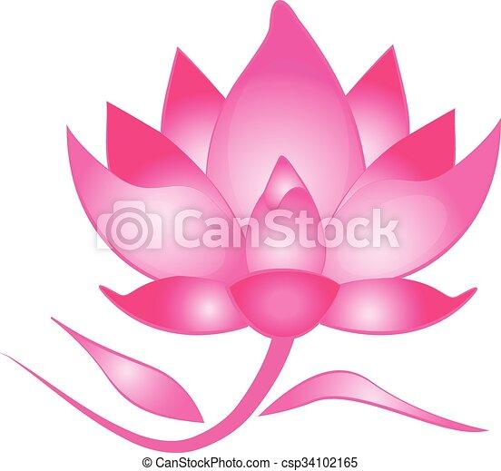 lotus flower logo pink lotus flower clip art vector search rh canstockphoto com