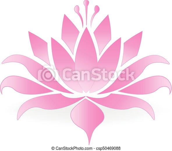 Lotus flower logo - csp50469088