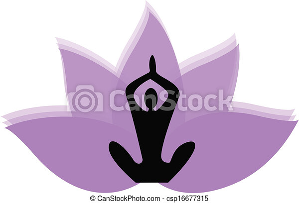 yoga man and lotus flower logo vector vector clip art search rh canstockphoto com lotus flower vector download lotus flower vector free download