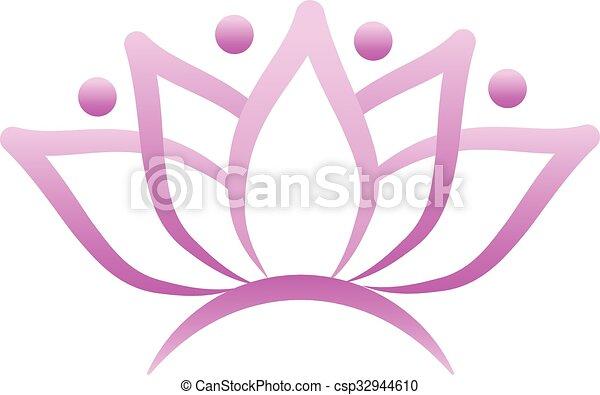 Lotus flower logo - csp32944610
