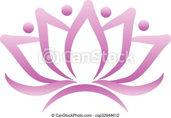 Lotus flower logo - csp32944612
