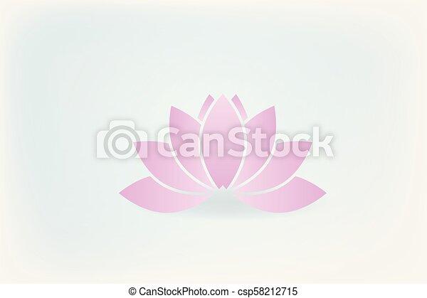 Lotus flower logo - csp58212715