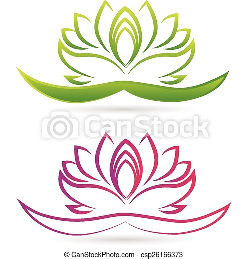 Lotus flower logo vector - csp26166373