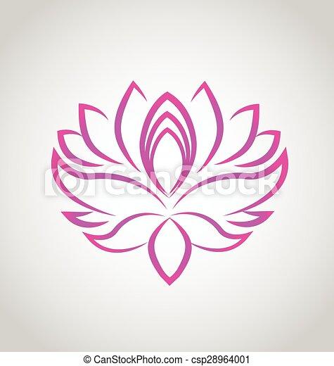 Lotus flower logo vector - csp28964001