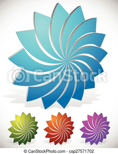 Lotus flower shape in 3d 4 colors included vector vector lotus flower shape in 3d 4 colors included vector graphics mightylinksfo Gallery
