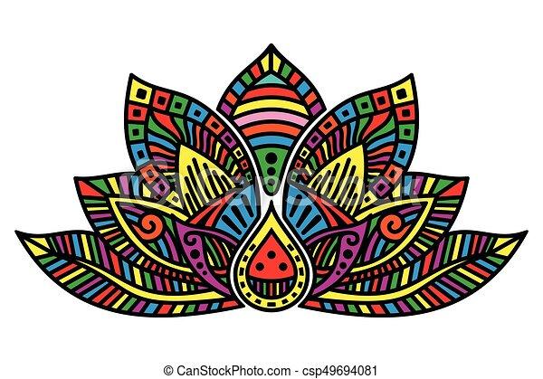 Lotus Flower Tattoo Vector Image Of Egyptian Lotus Flower On White