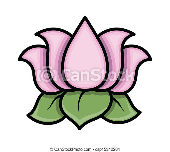 Drawing art of cartoon lotus flower vector illustration lotus flower vector mightylinksfo