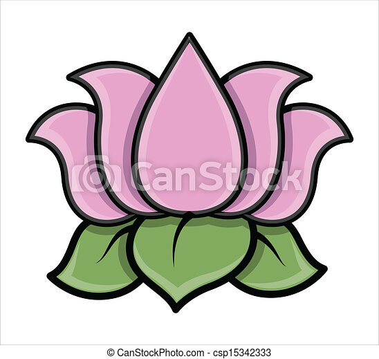 lotus flower vector illustration drawing art of beautiful rh canstockphoto com lotus clipart black and white lotus clipart black and white