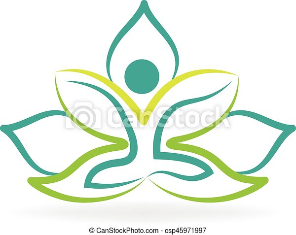 Lotus flower yoga logo meditation symbol vector design lotus flower yoga logo csp45971997 mightylinksfo