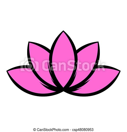 Lotus Icône Fleur Dessin Animé Icône