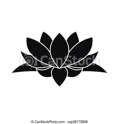 Lotus Icône Style Fleur Simple