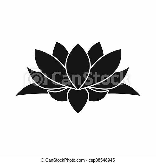 lotus ic ne style fleur simple style fleur lotus isol simple fond blanc ic ne. Black Bedroom Furniture Sets. Home Design Ideas