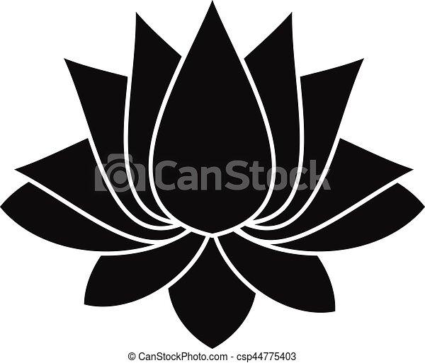 Lotus Icône Style Simple