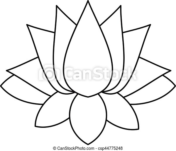 lotus icon outline style lotus icon outline illustration of lotus rh canstockphoto com lotus victory foundation 990 form lotus vector design