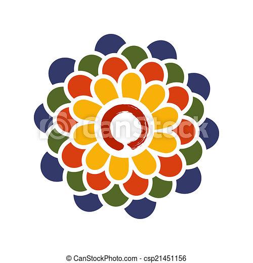 Lotus Illus Cercle Zen Coloré