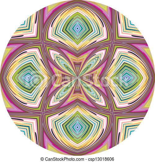 lotus, modèle, vecteur, rond - csp13018606