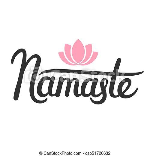 Lotus Namaste Calligraphie Silhouette Fleur
