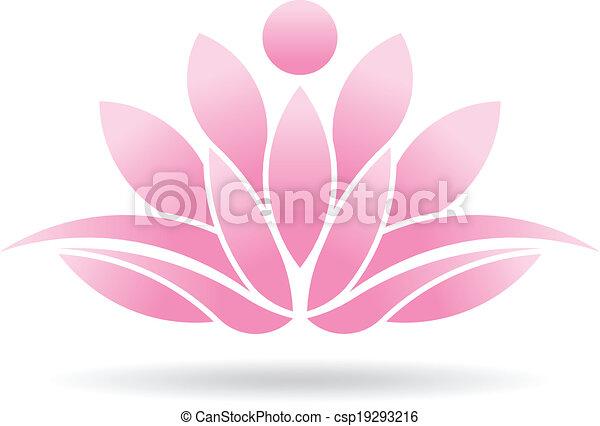 Lotus Person logo - csp19293216