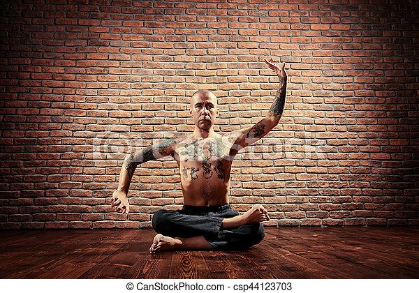 lotus pose lotus pose yoga master practicing yoga