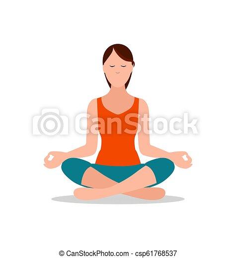 lotus position of yoga sitting vector illustration lotus