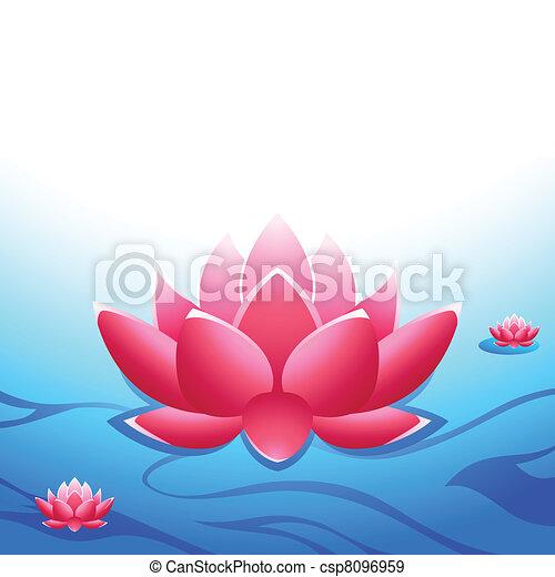 lotus, sacré - csp8096959