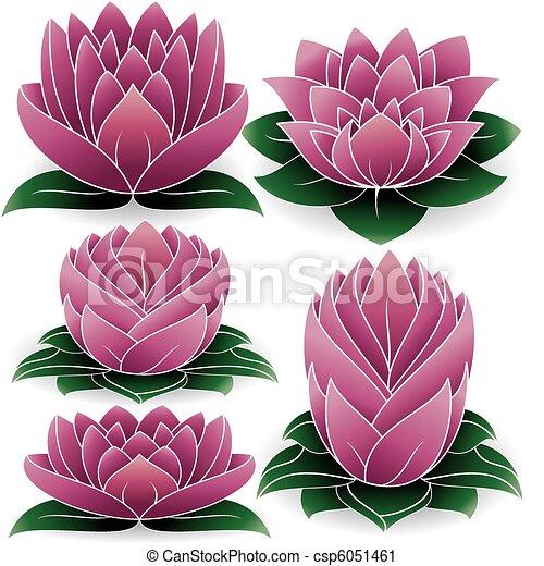 Lotus Set Colored 2 - csp6051461