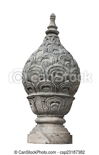Lotus Statue Tray isolated on white background - csp23187382